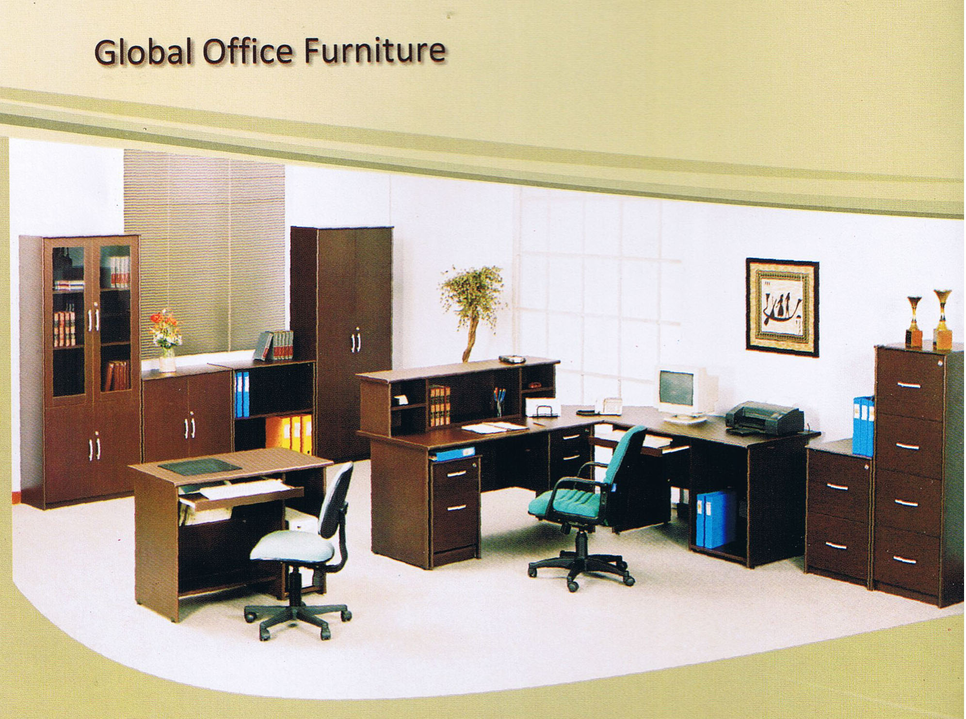 Wood office furniture collection bookcases with