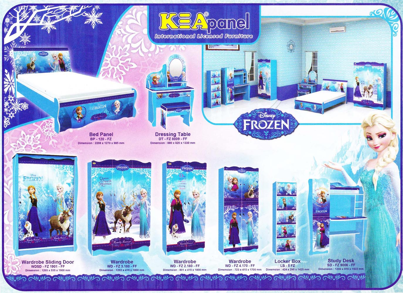 frozen bold bedroom idea furniture toddler uk chic disney themed design australia